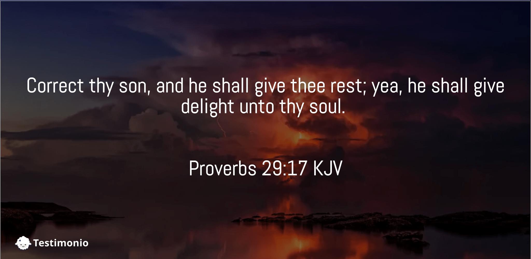 Proverbs 29:17