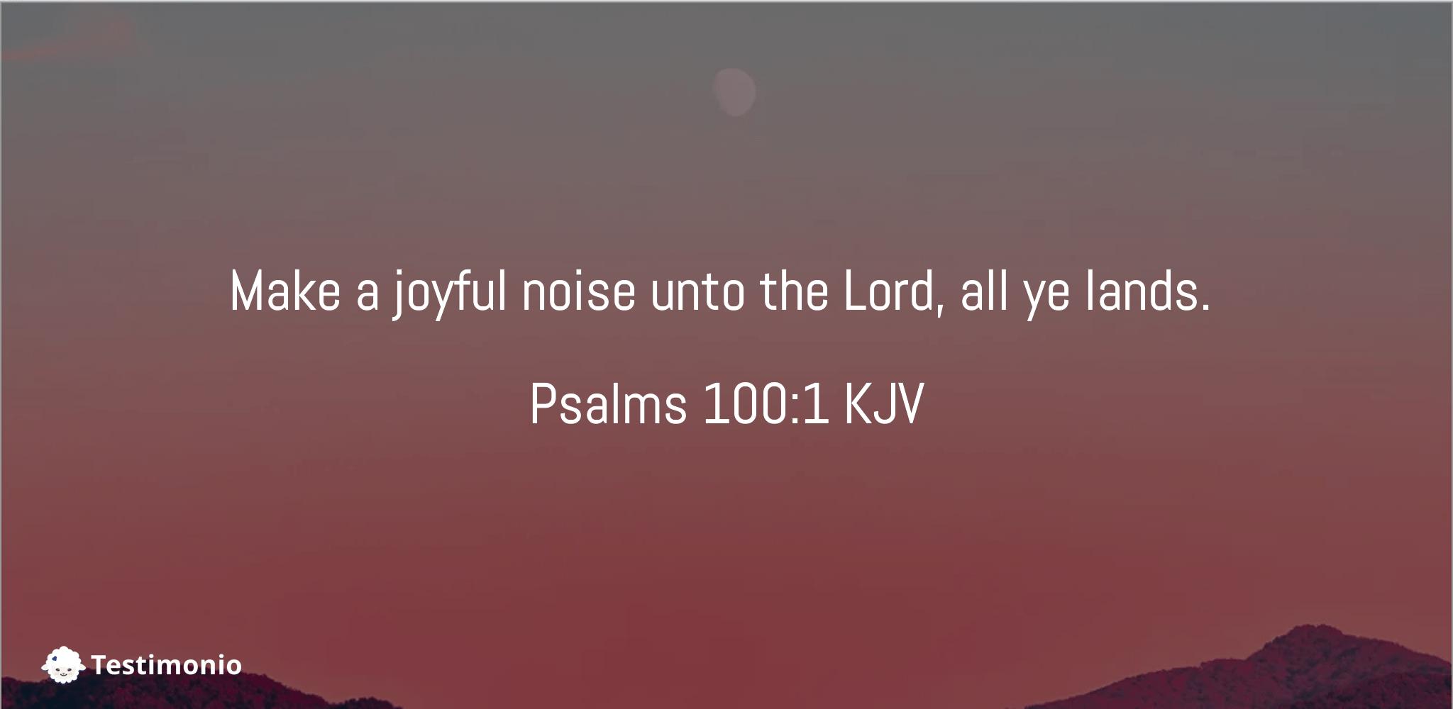 Psalms 100:1
