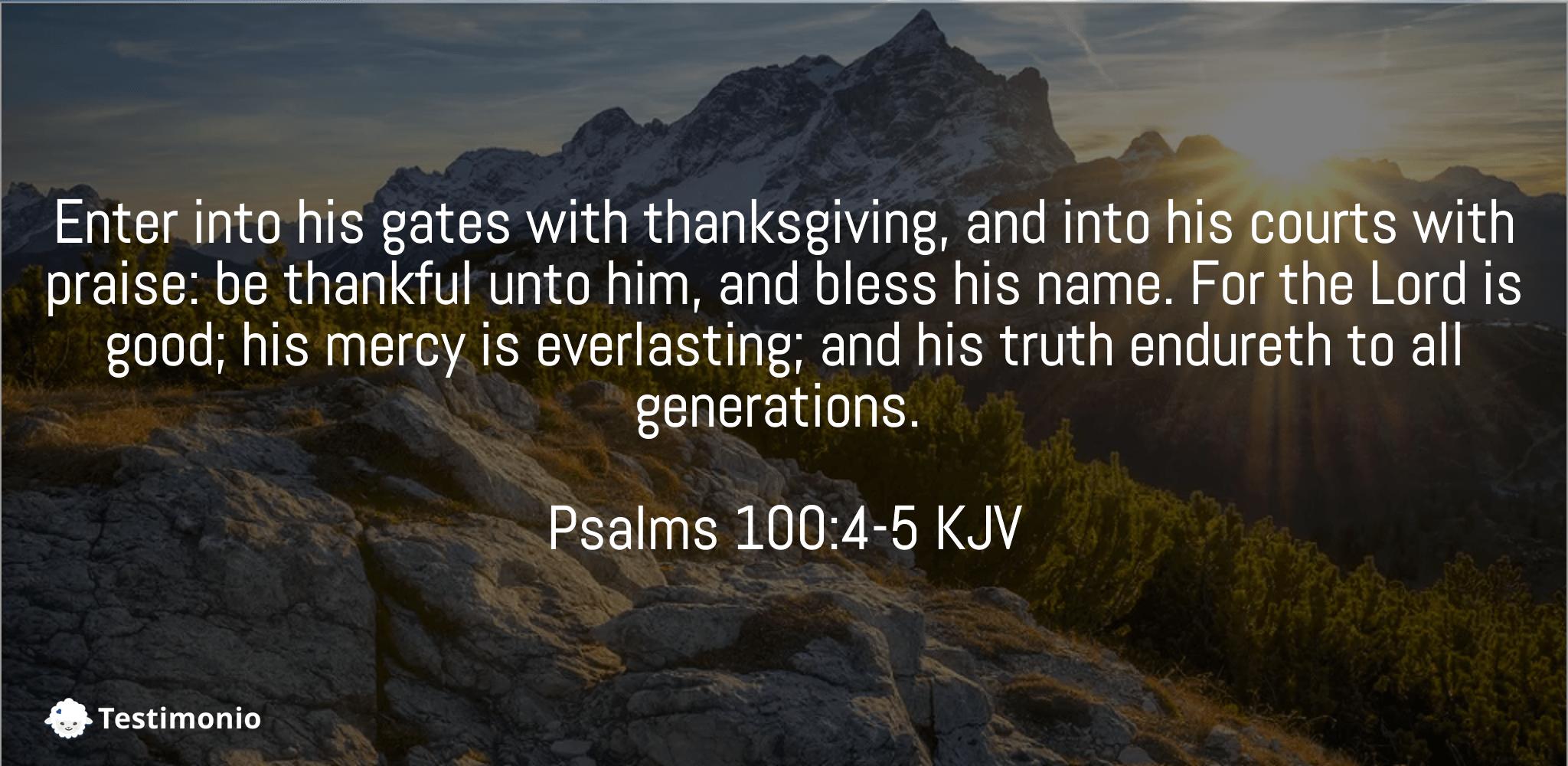 Psalms 100:4-5
