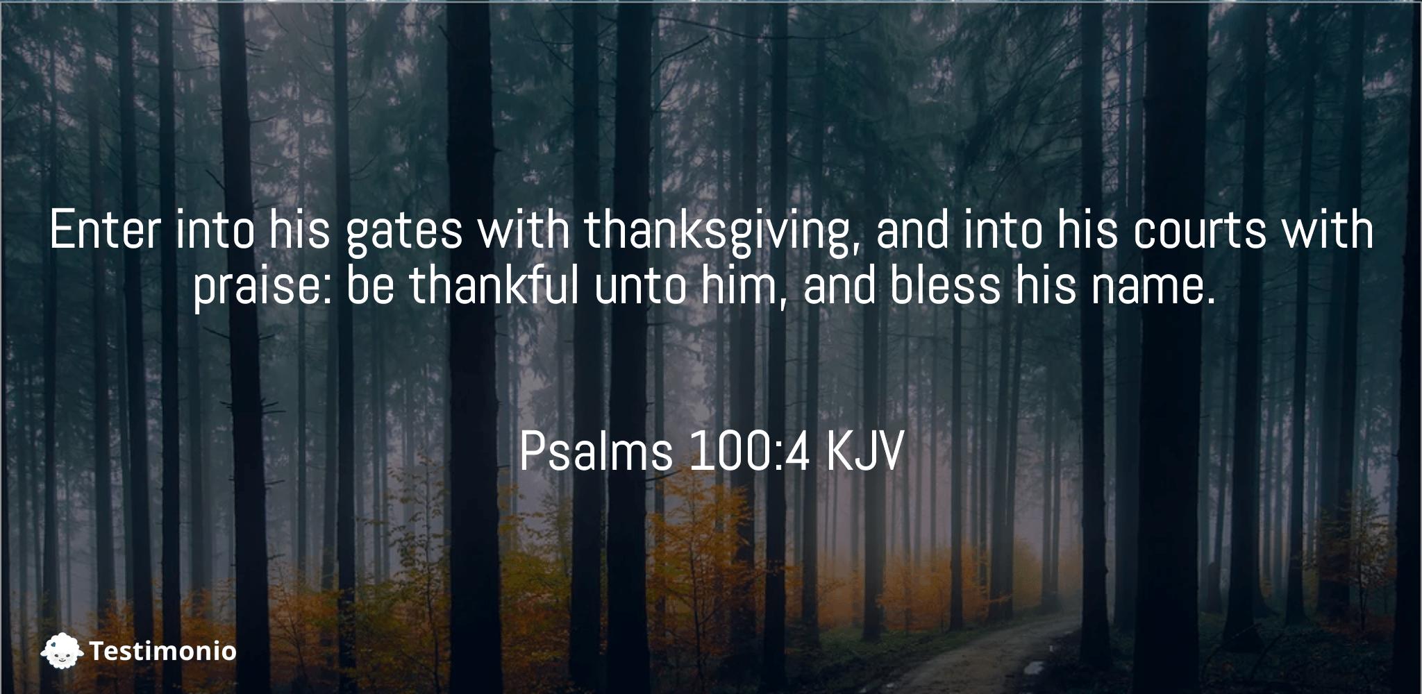 Psalms 100:4