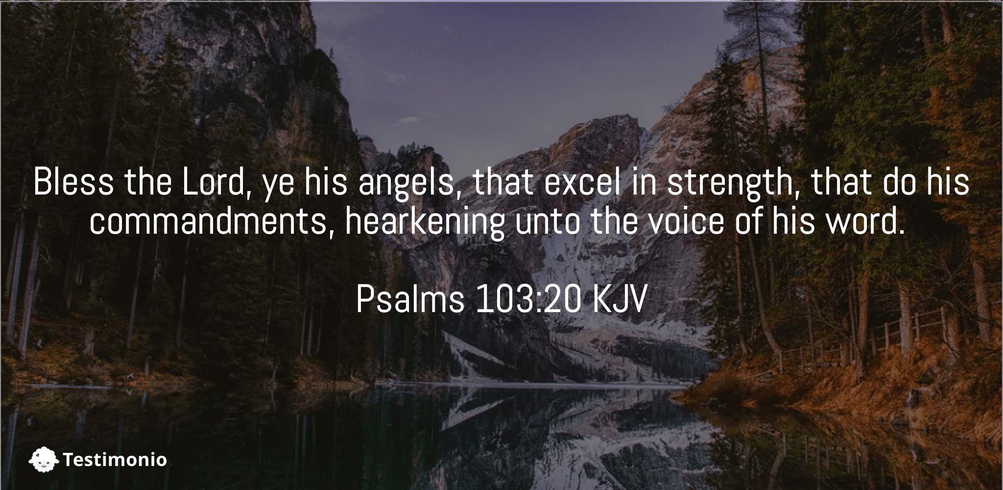 Psalms 103:20