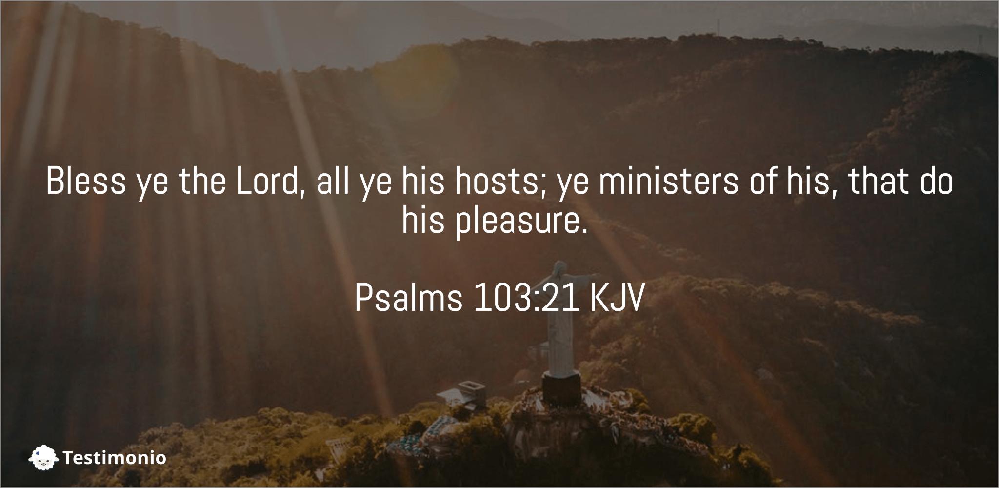 Psalms 103:21