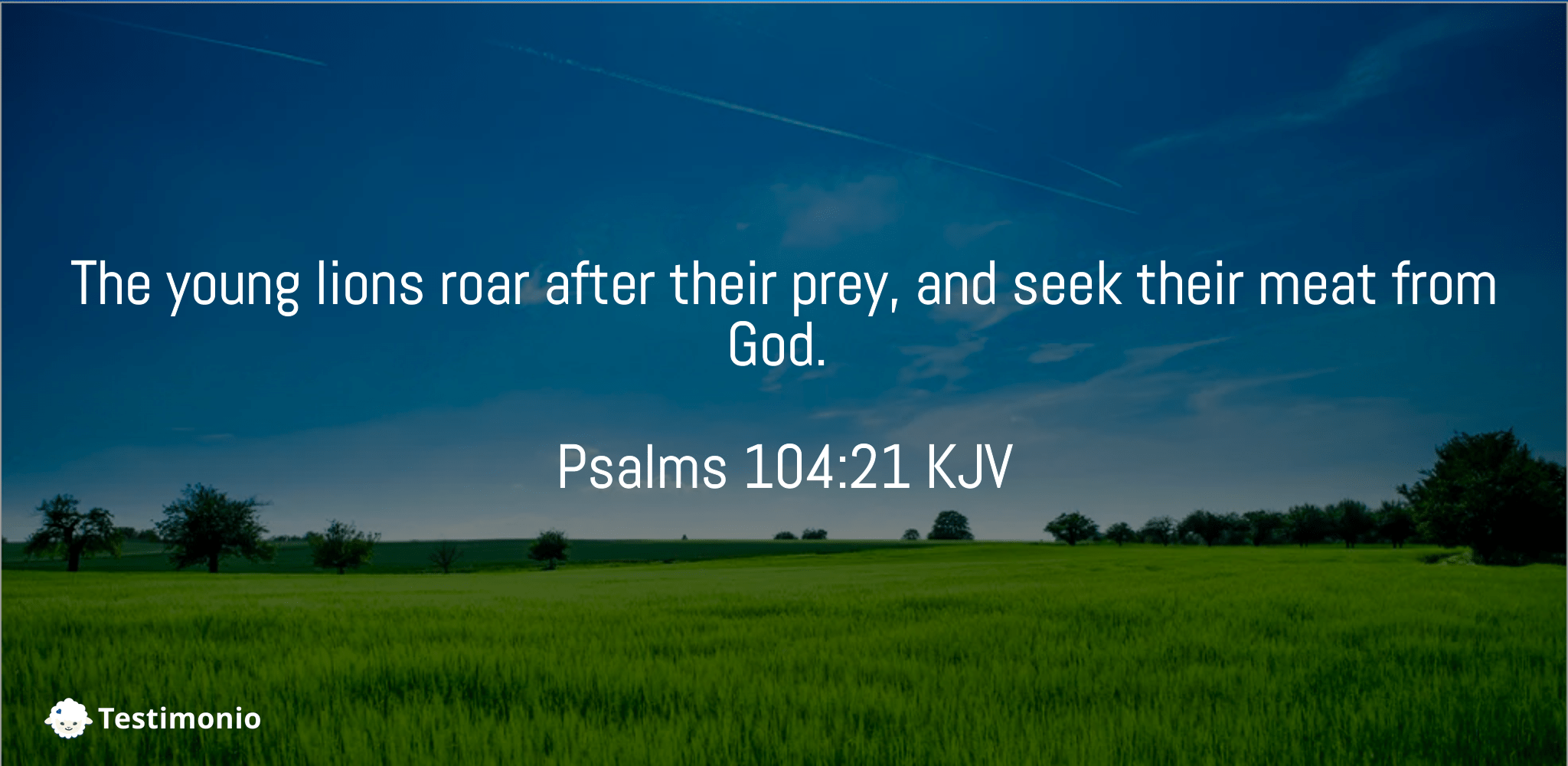 Psalms 104:21