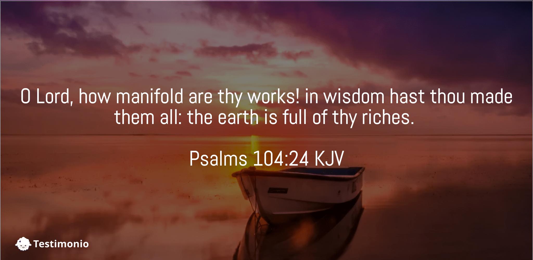 Psalms 104:24