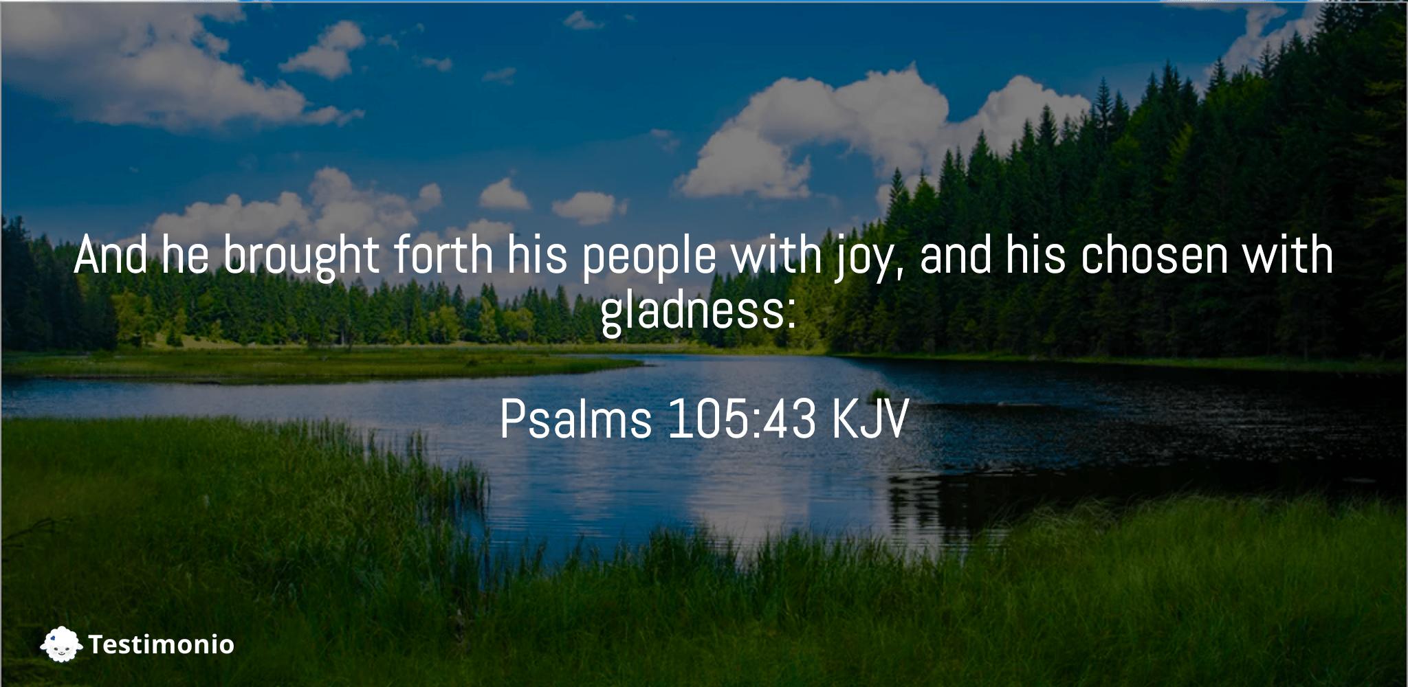 Psalms 105:43