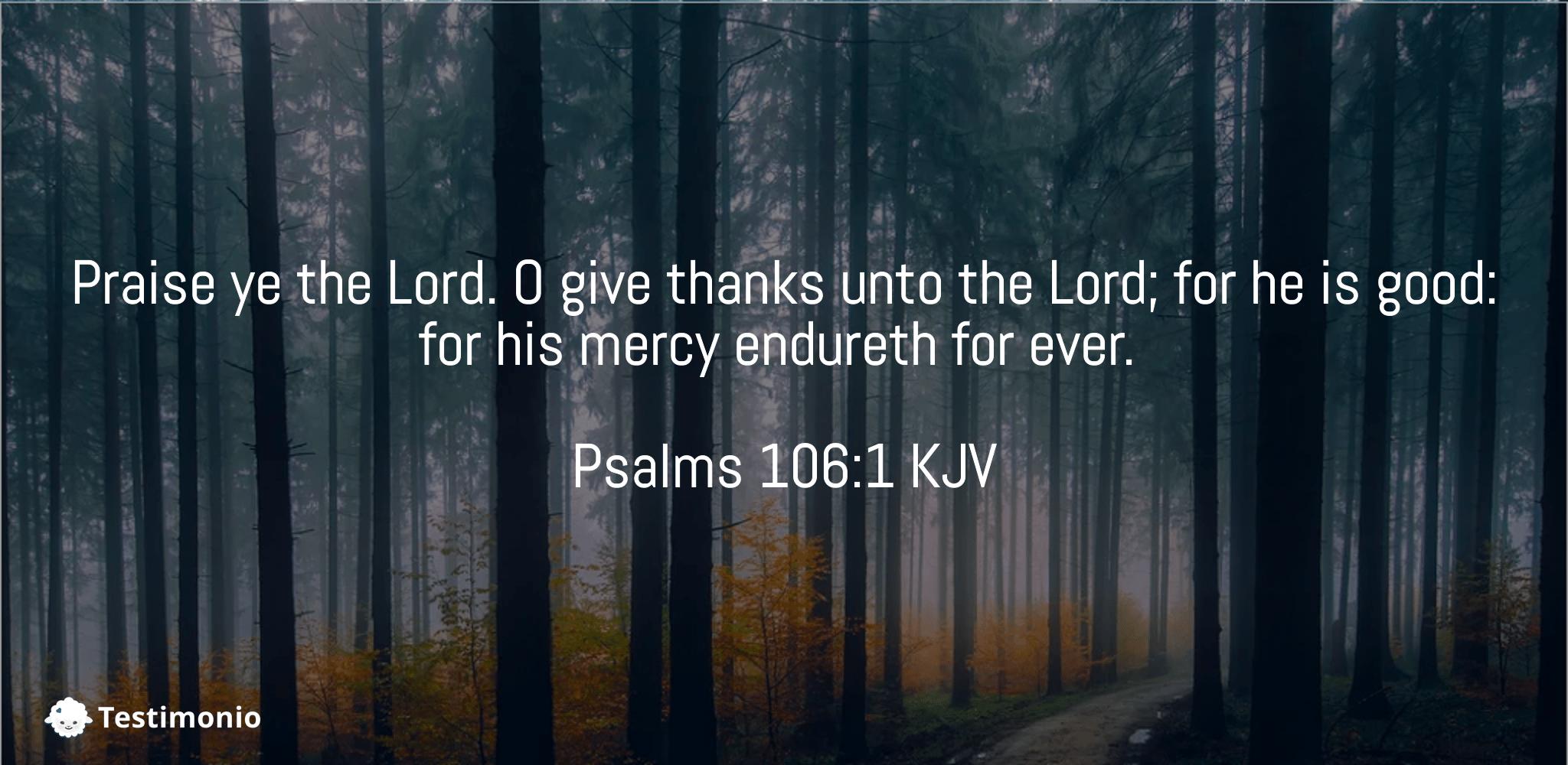 Psalms 106:1