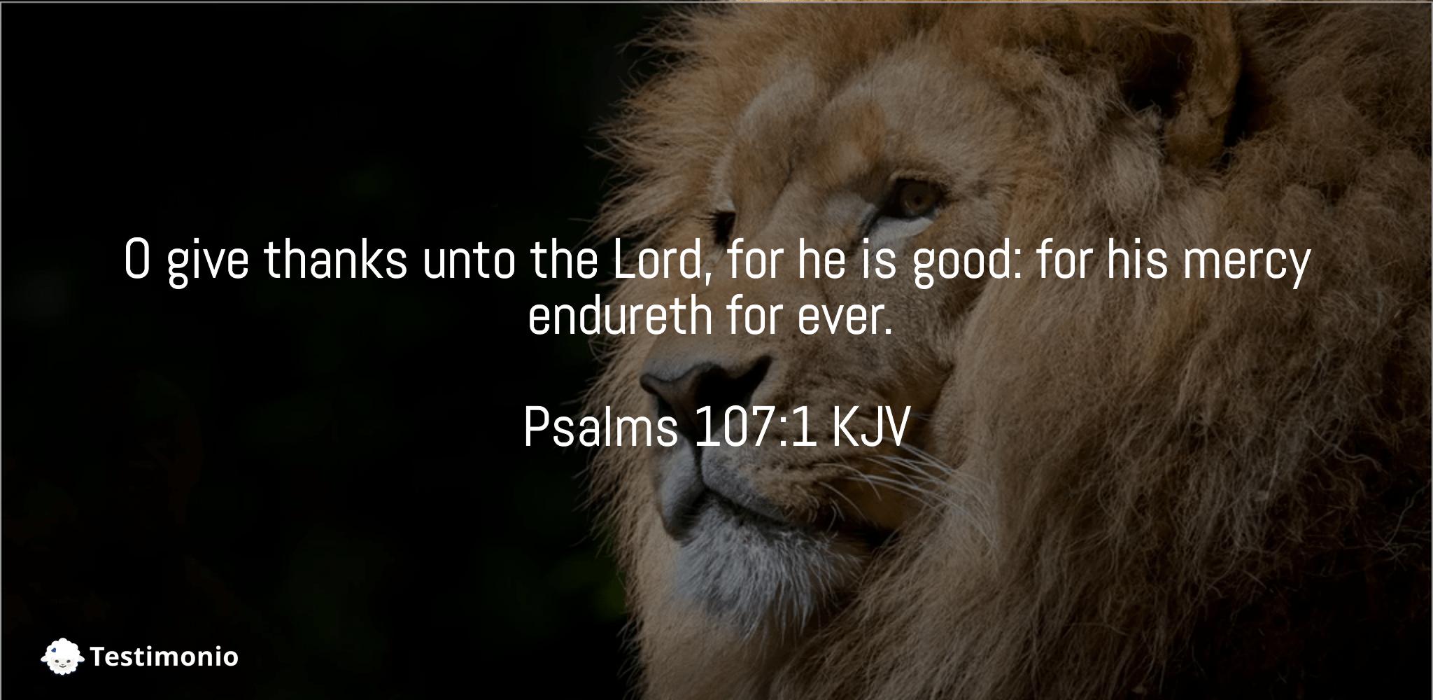 Psalms 107:1