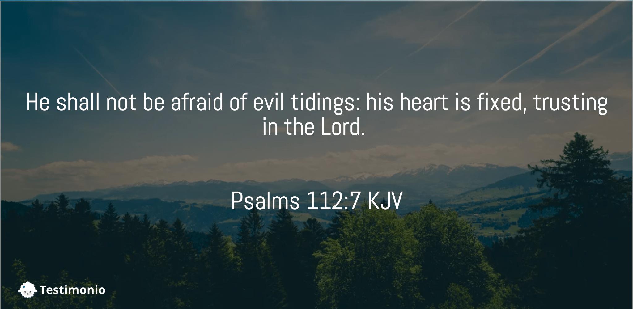 Psalms 112:7