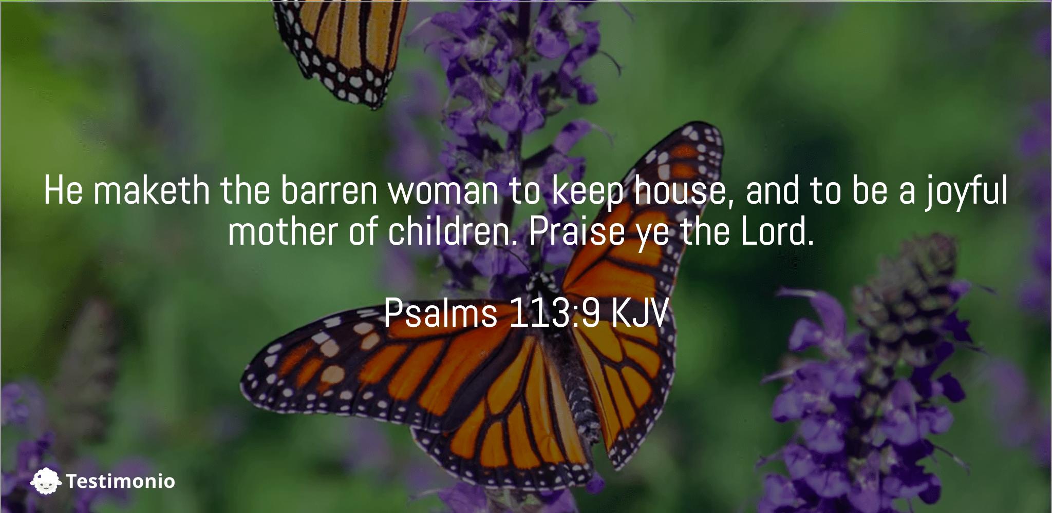 Psalms 113:9
