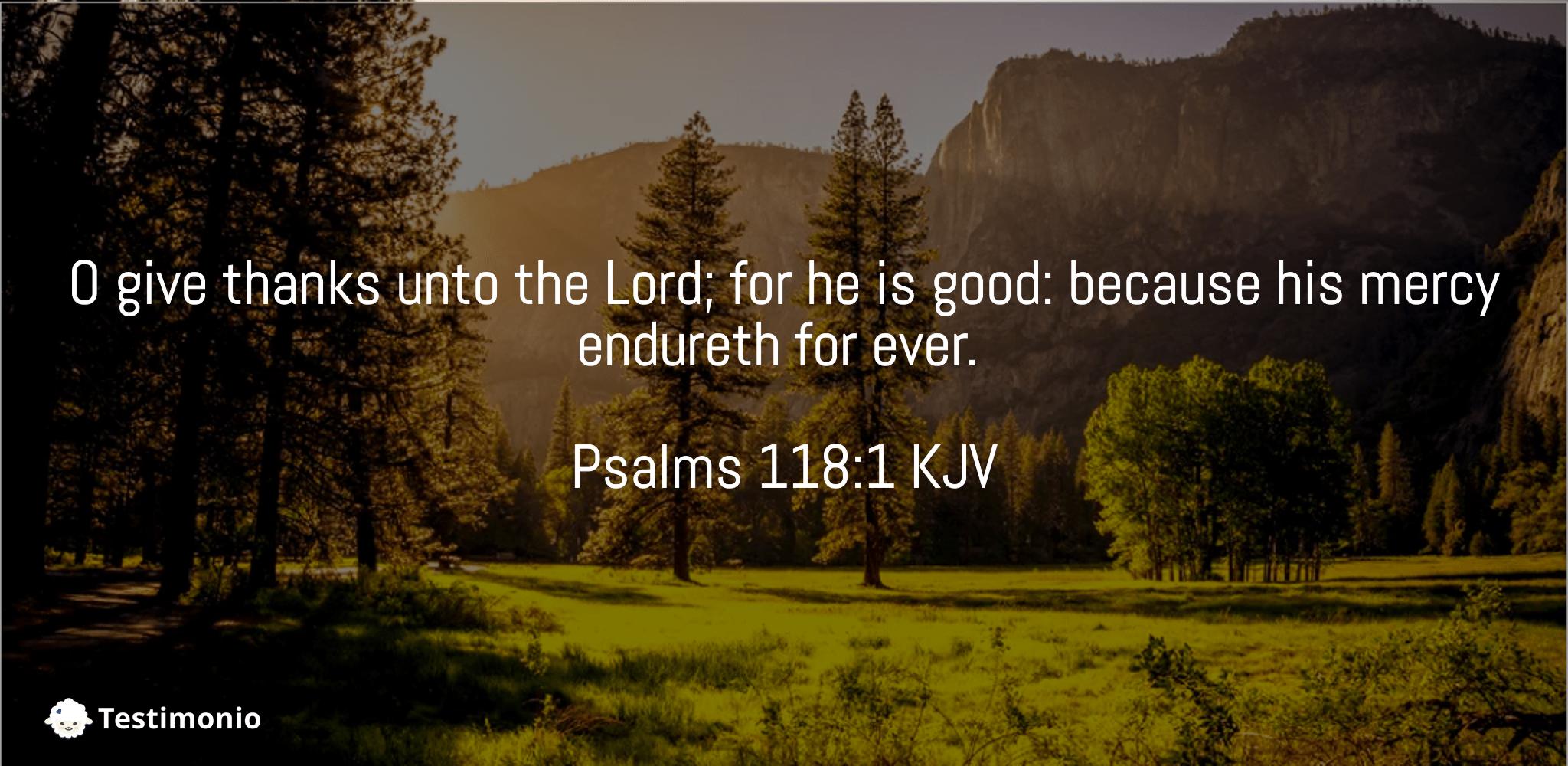 Psalms 118:1