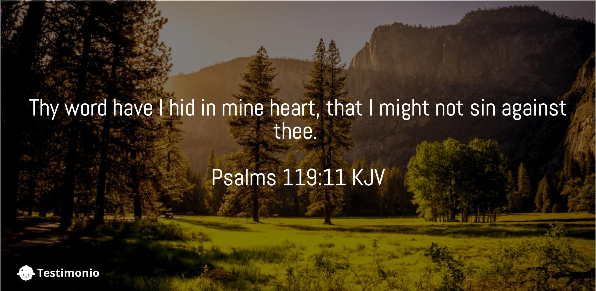 Psalms 119:11