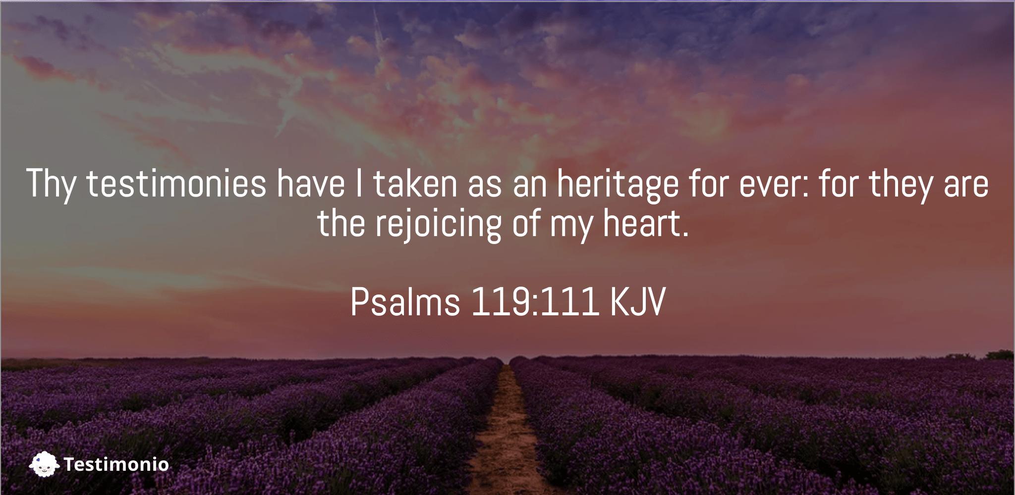 Psalms 119:111