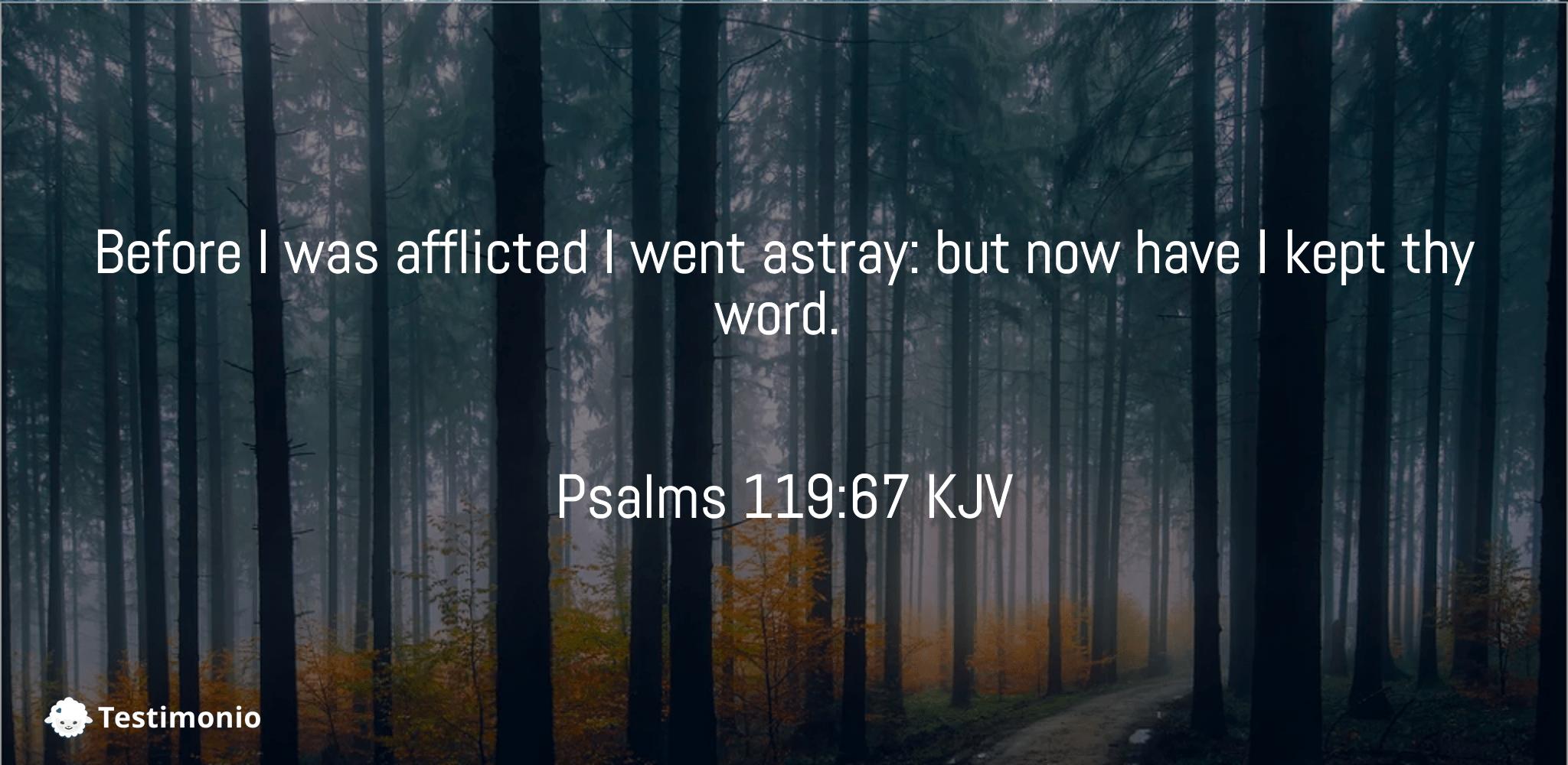 Psalms 119:67