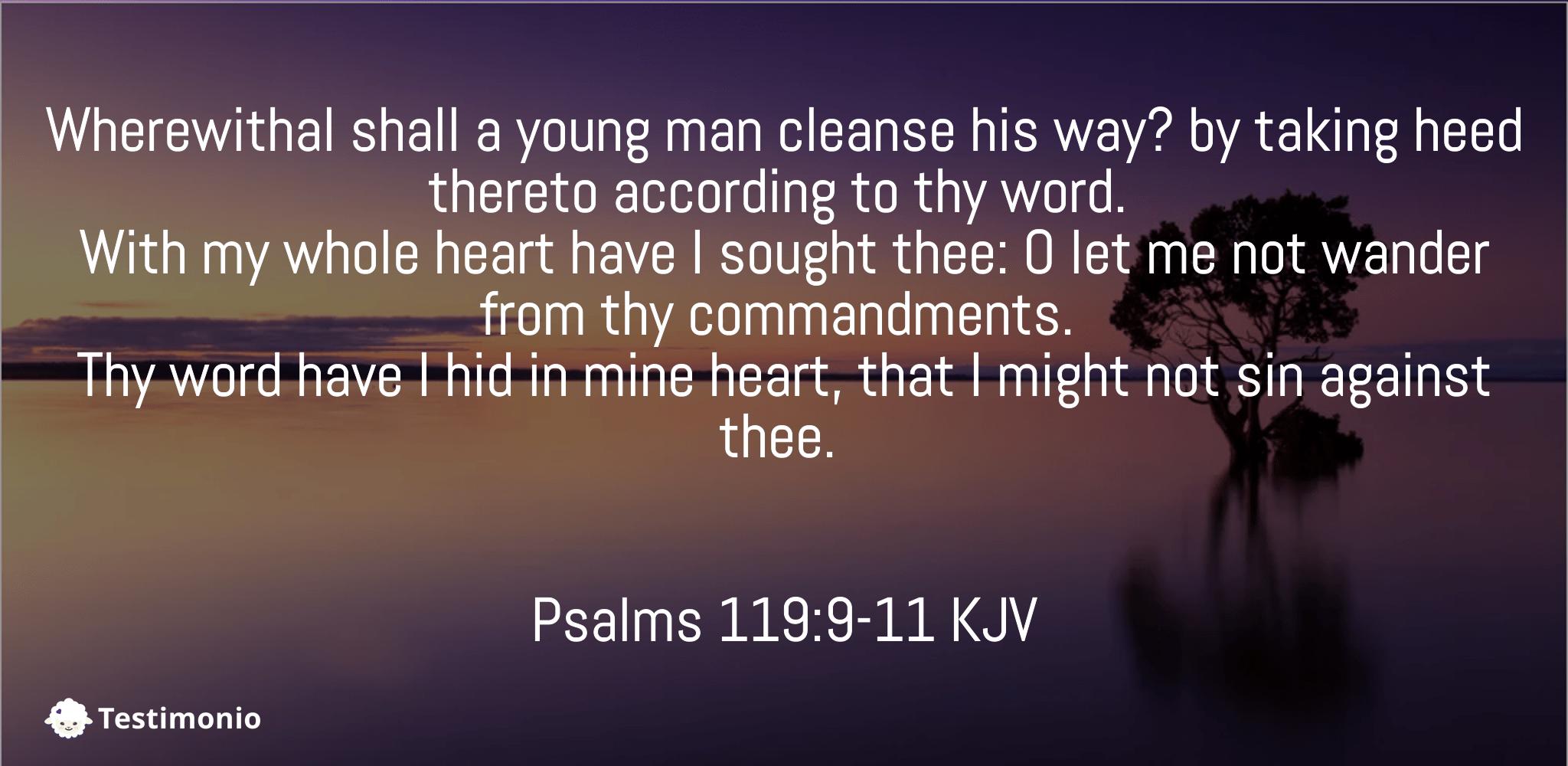 Psalms 119:9-11