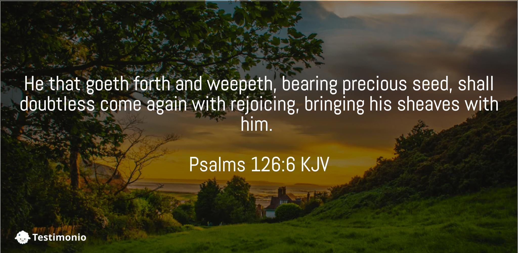 Psalms 126:6