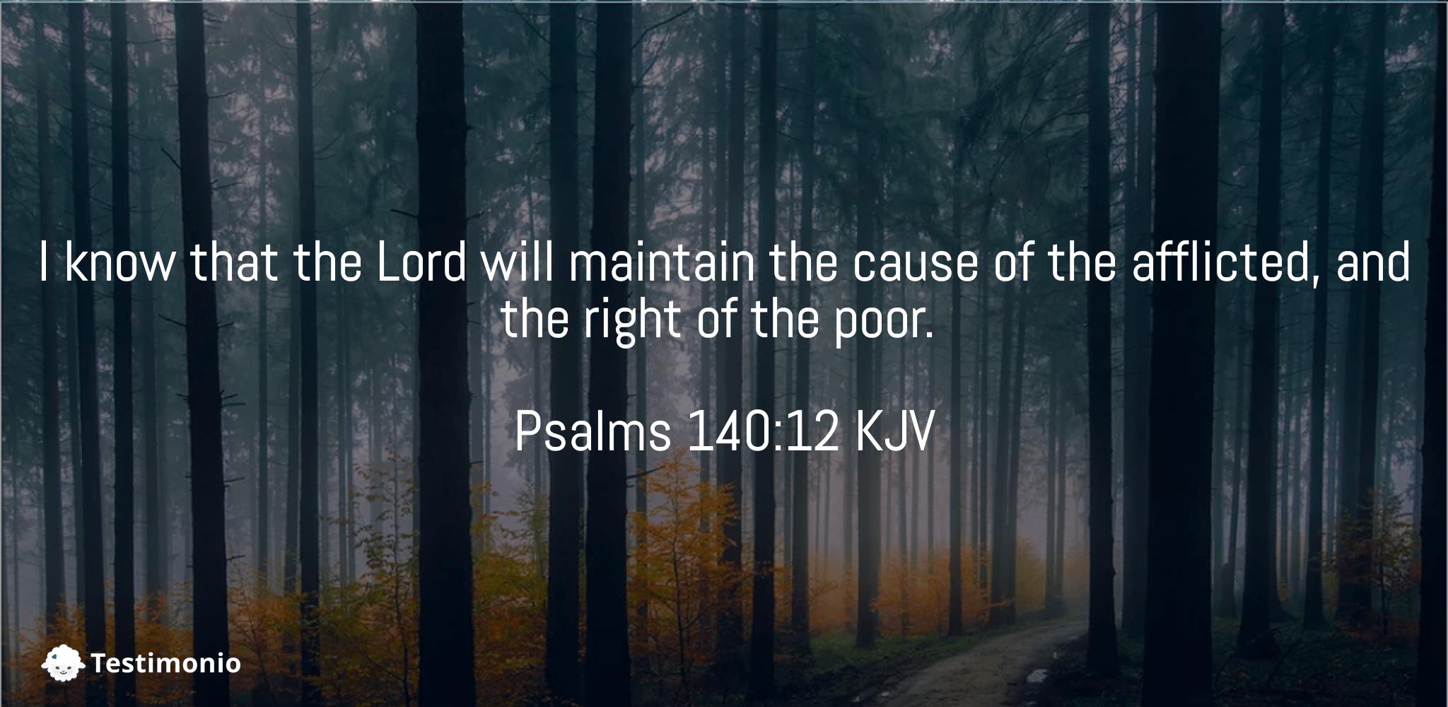 Psalms 140:12