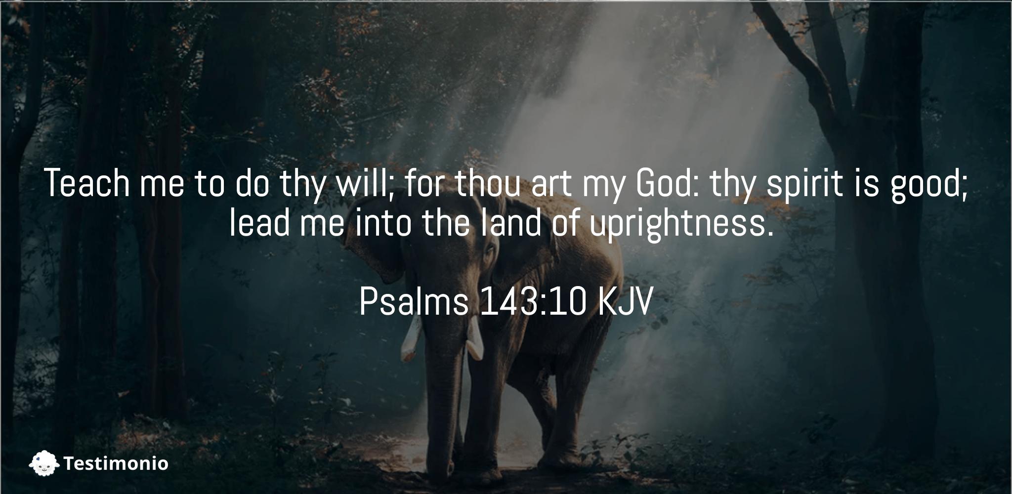 Psalms 143:10