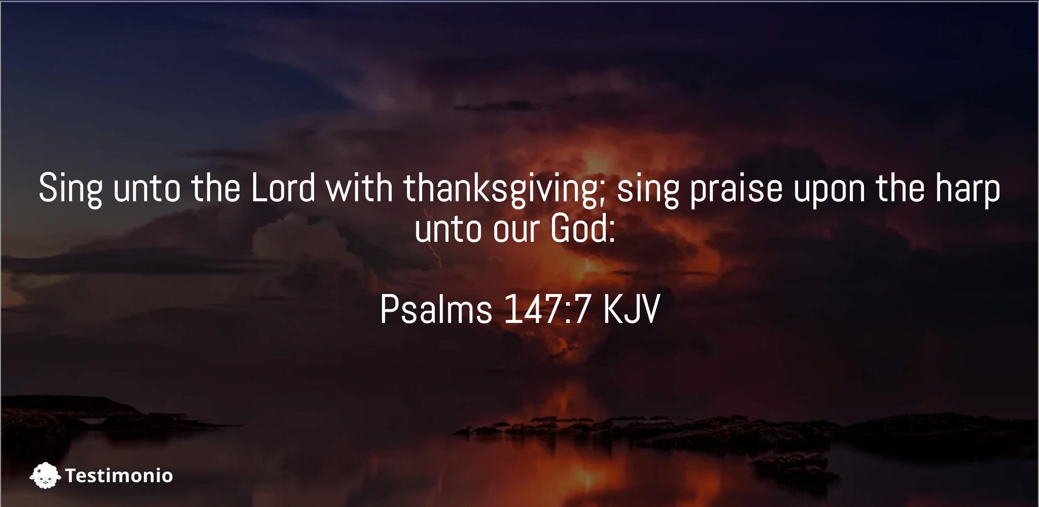 Psalms 147:7