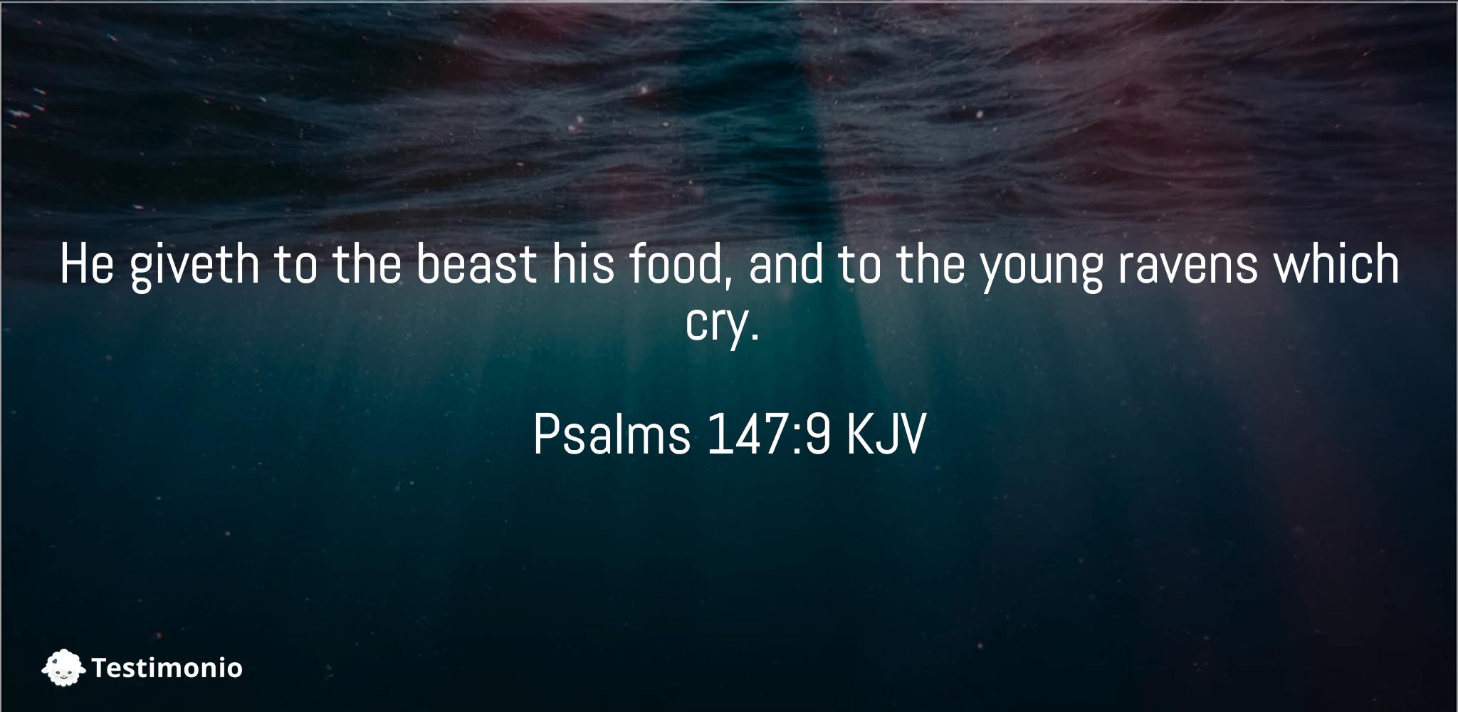 Psalms 147:9
