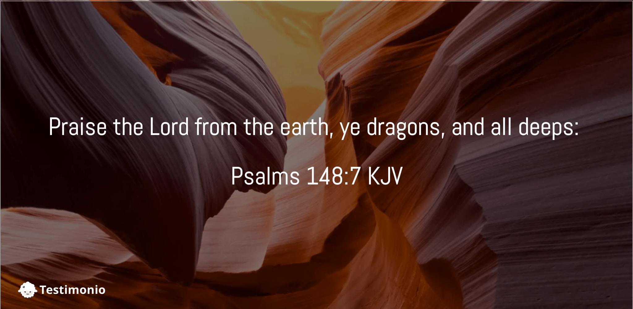 Psalms 148:7