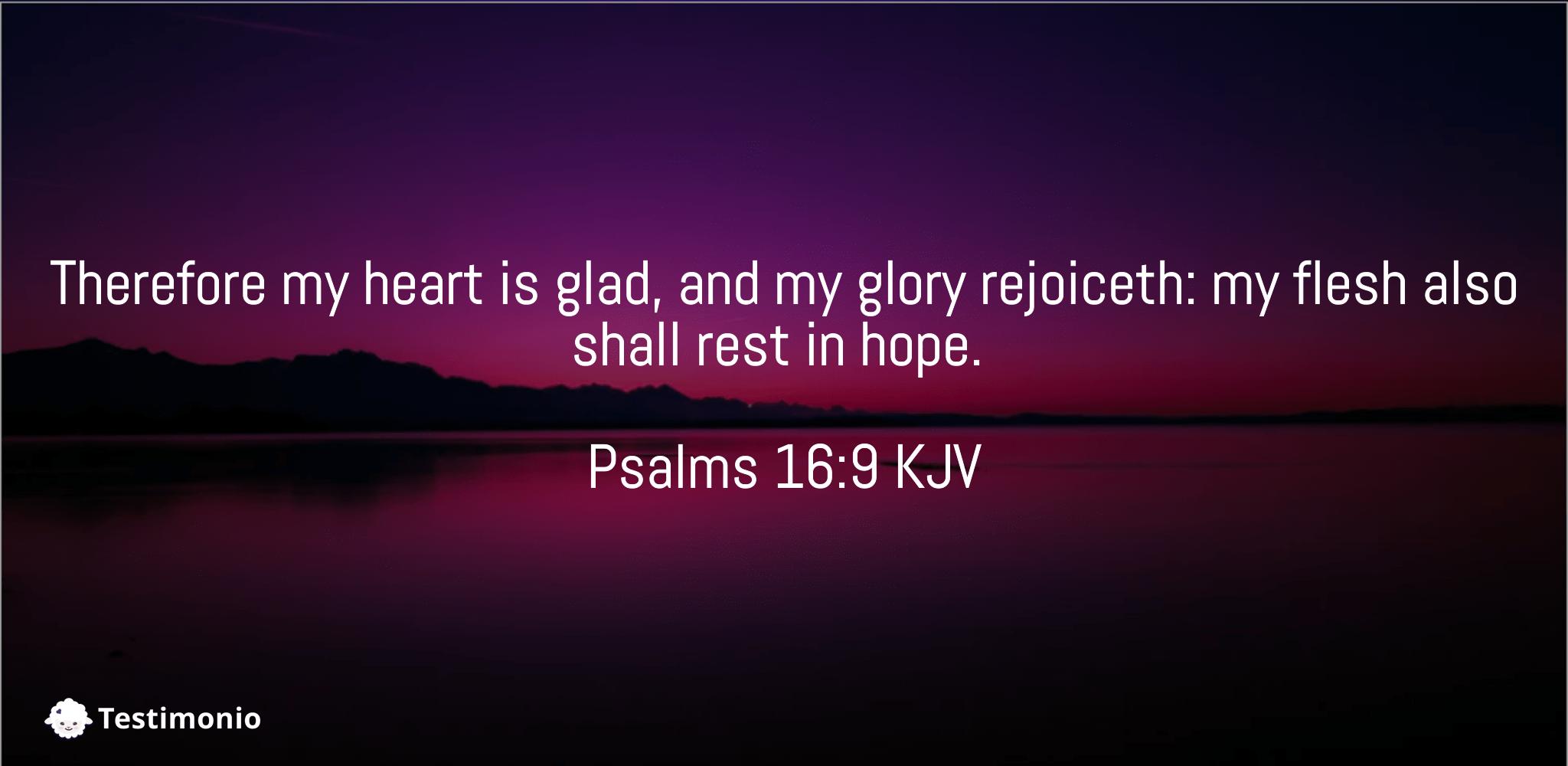 Psalms 16:9