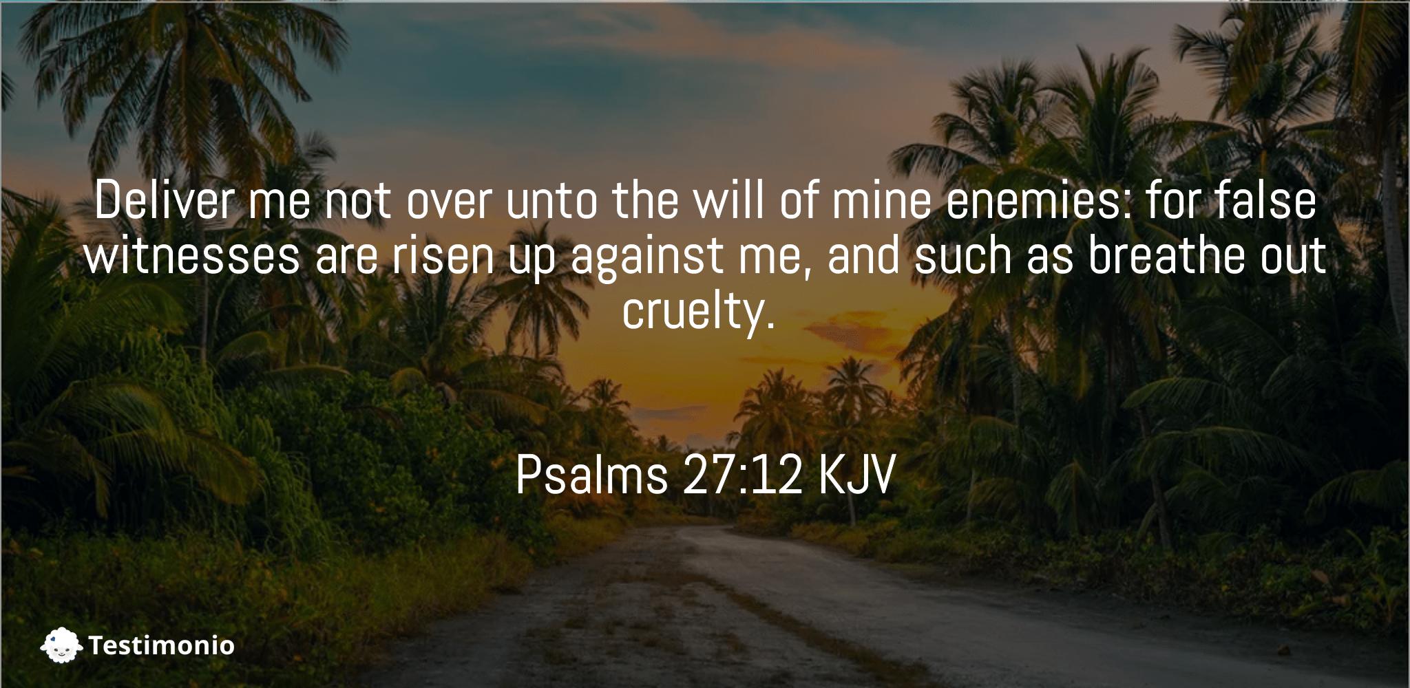Psalms 27:12
