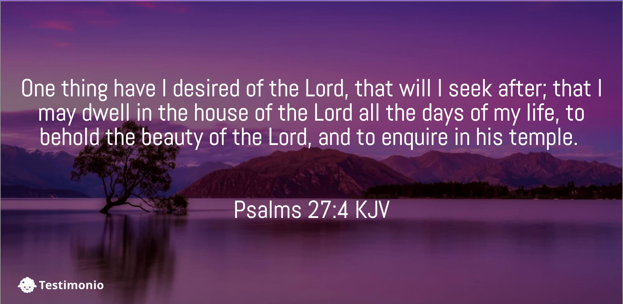 Psalms 27:4