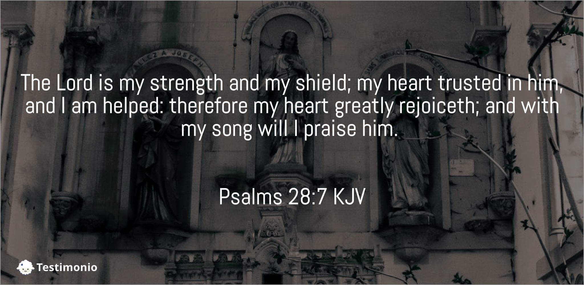 Psalms 28:7