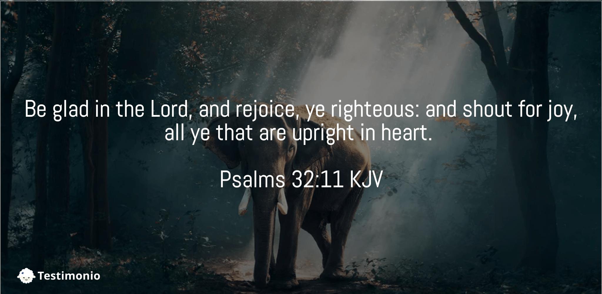 Psalms 32:11