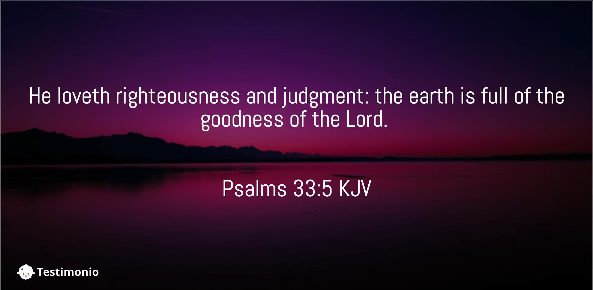 Psalms 33:5