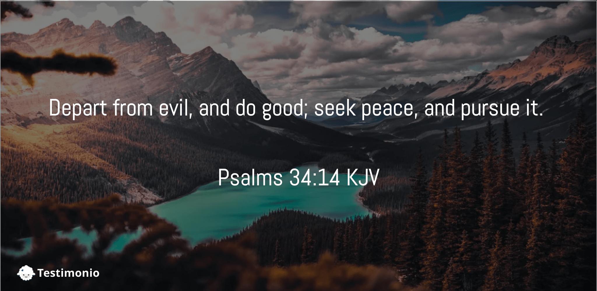 Psalms 34:14