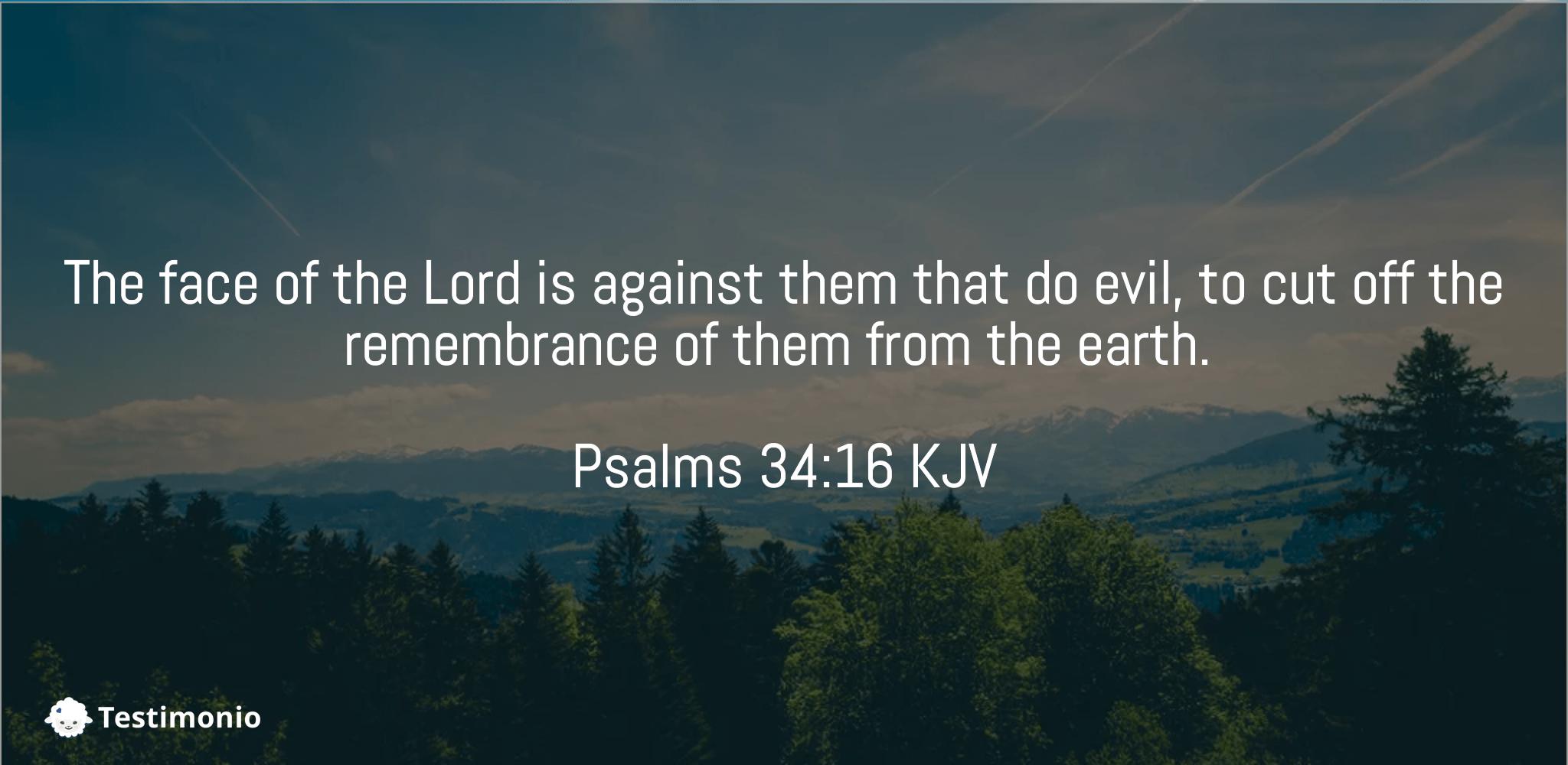 Psalms 34:16