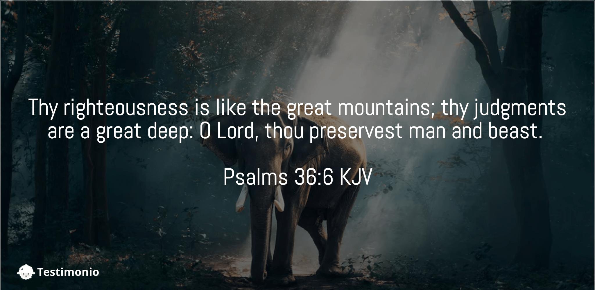 Psalms 36:6