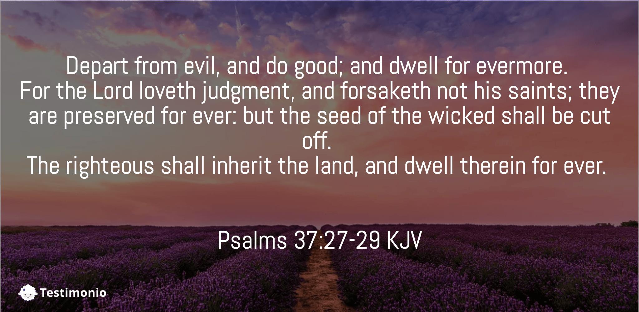 Psalms 37:27-29