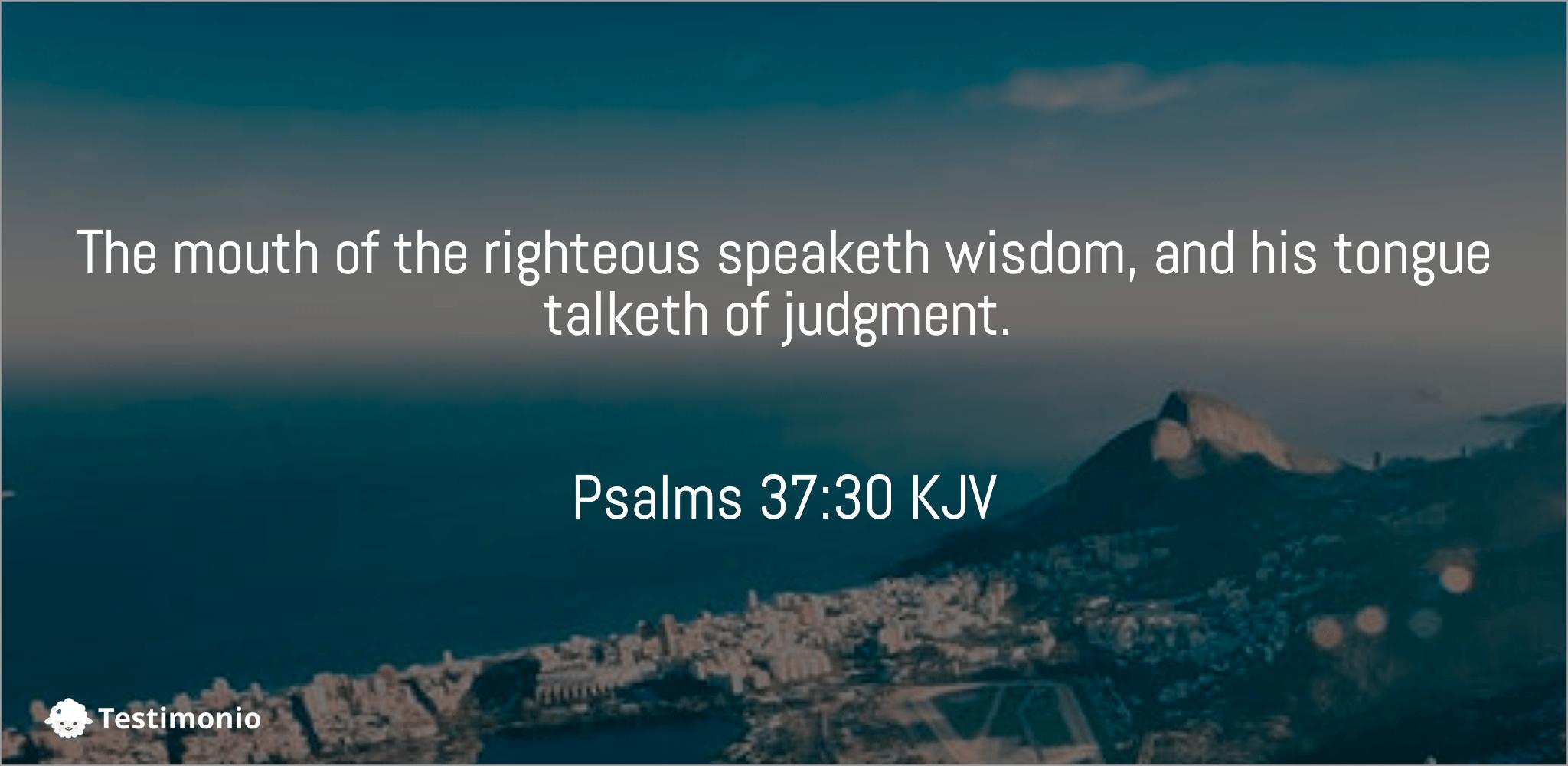 Psalms 37:30