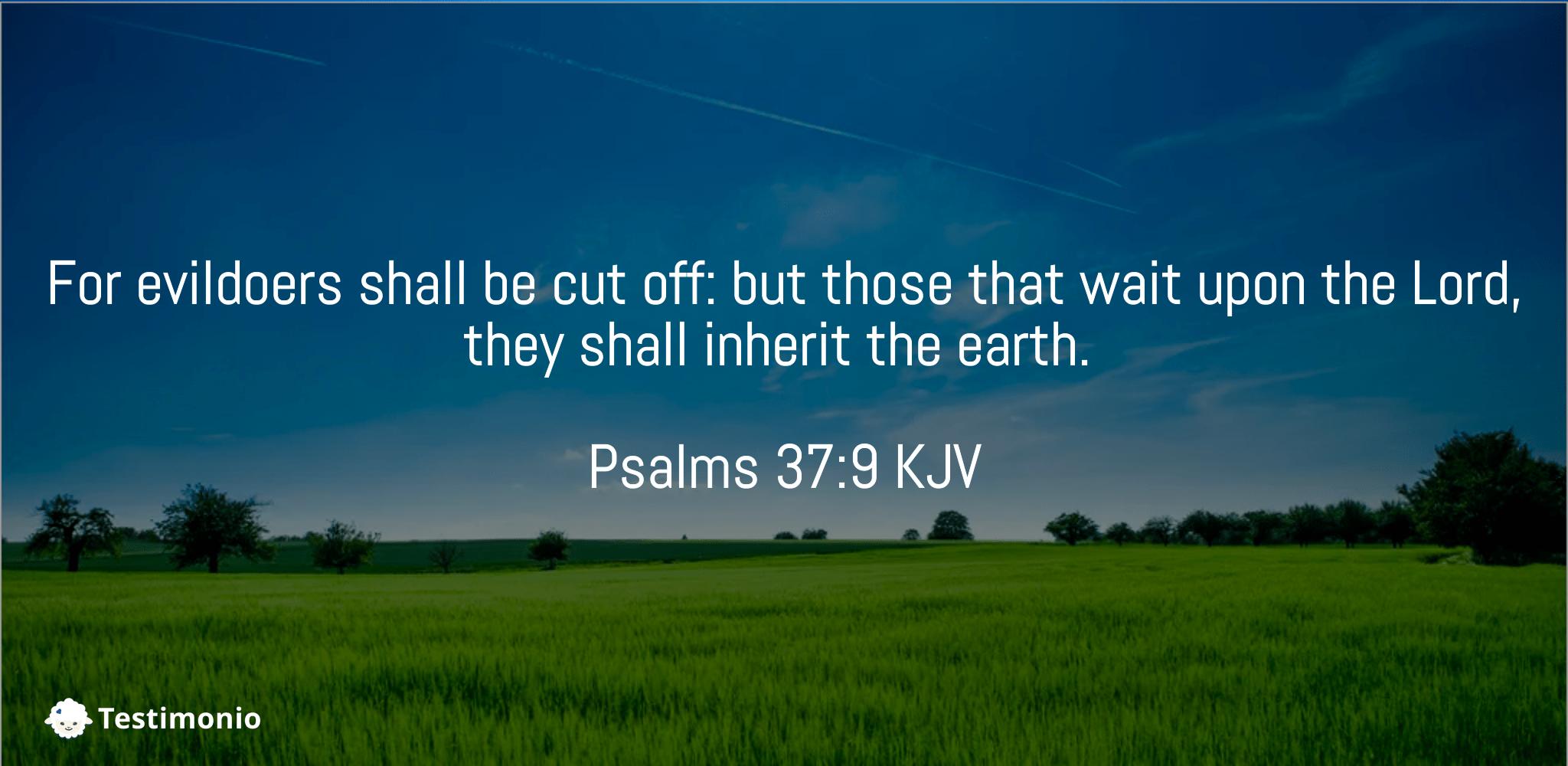 Psalms 37:9