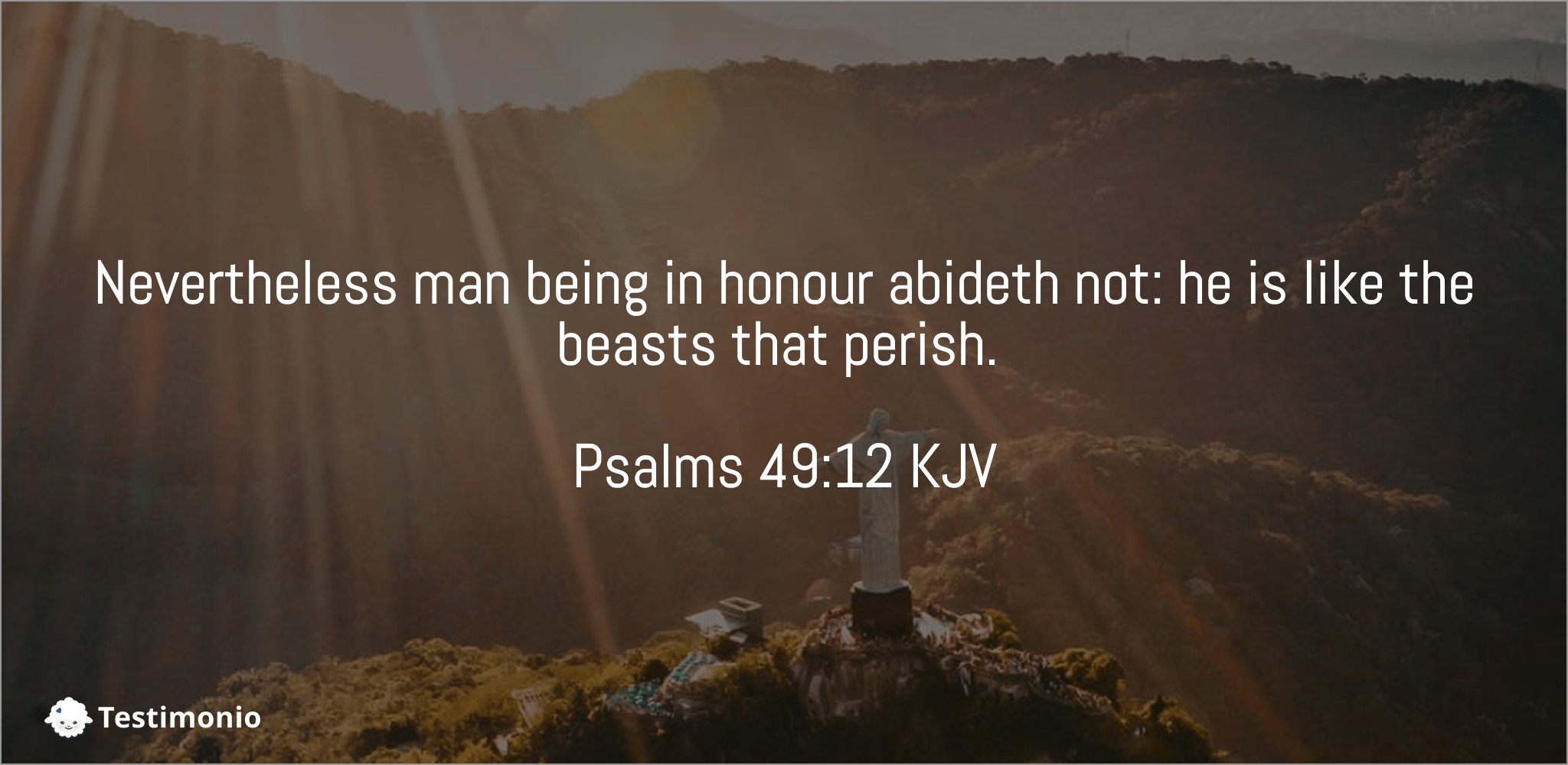 Psalms 49:12