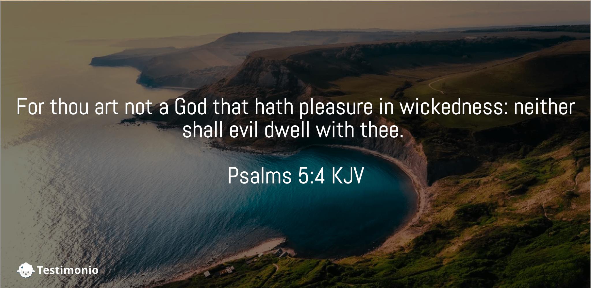 Psalms 5:4