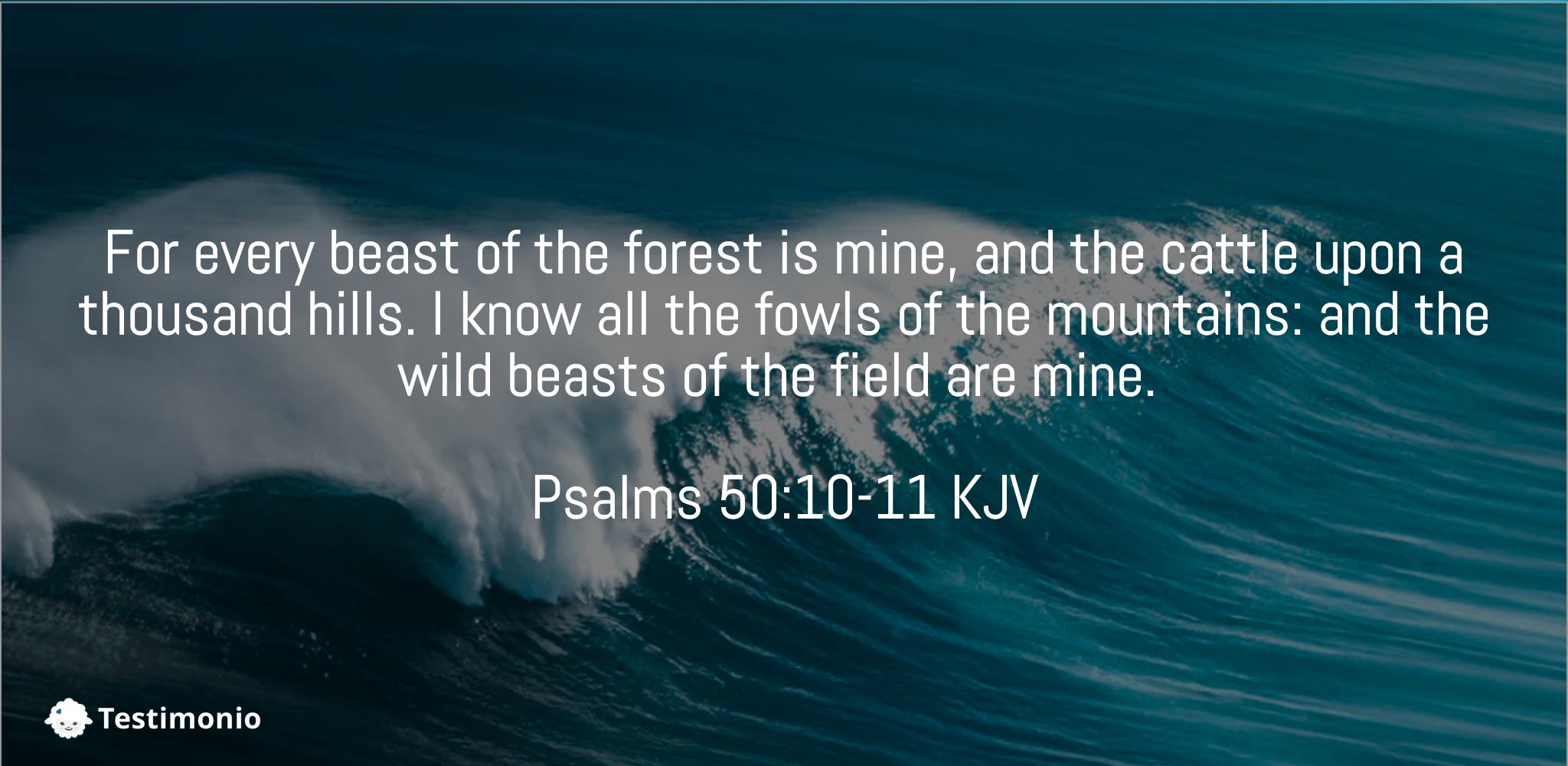 Psalms 50:10-11