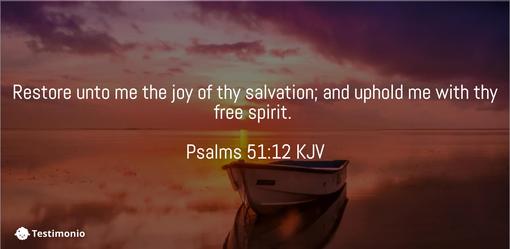 Psalms 51:12