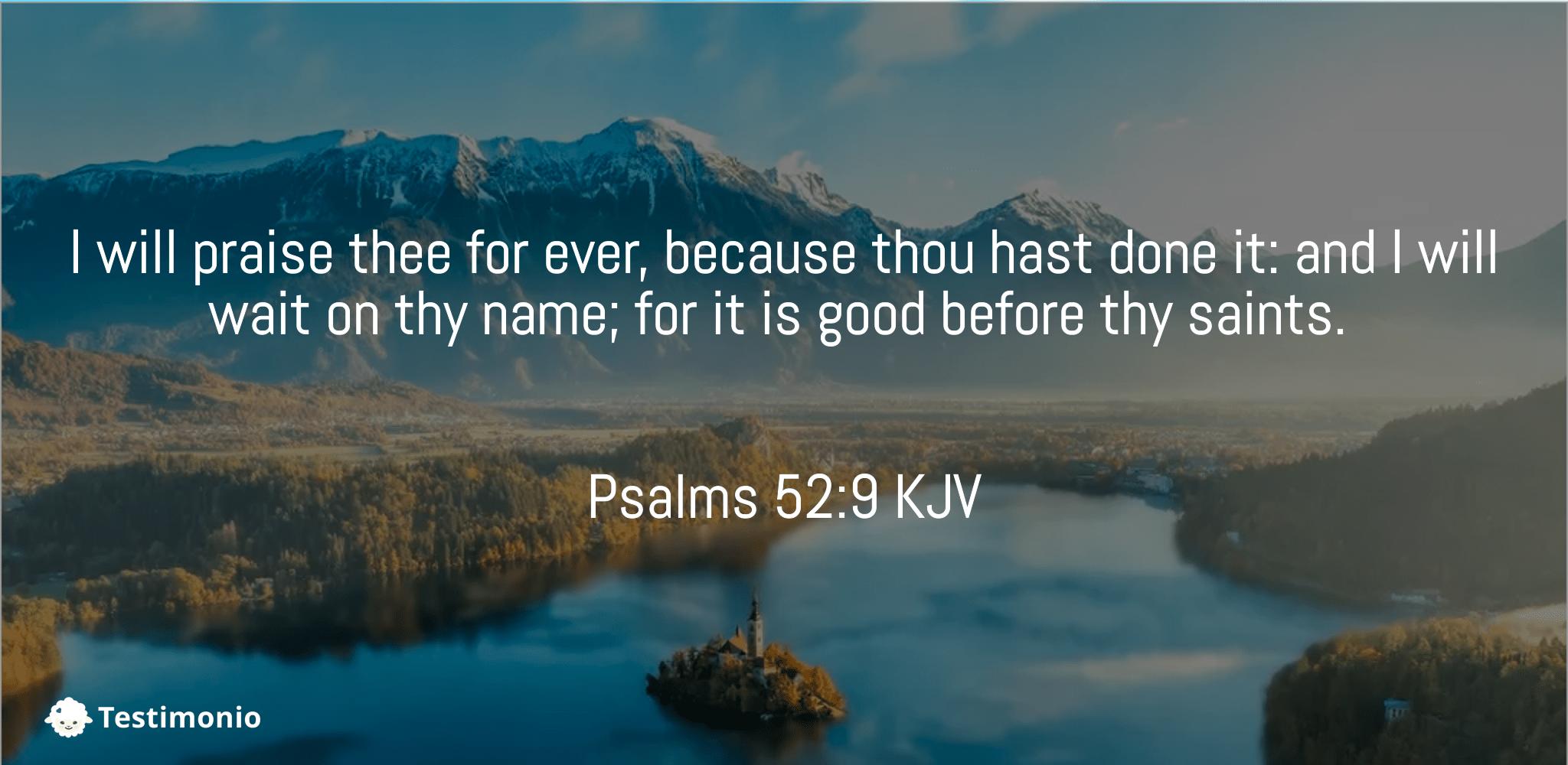 Psalms 52:9