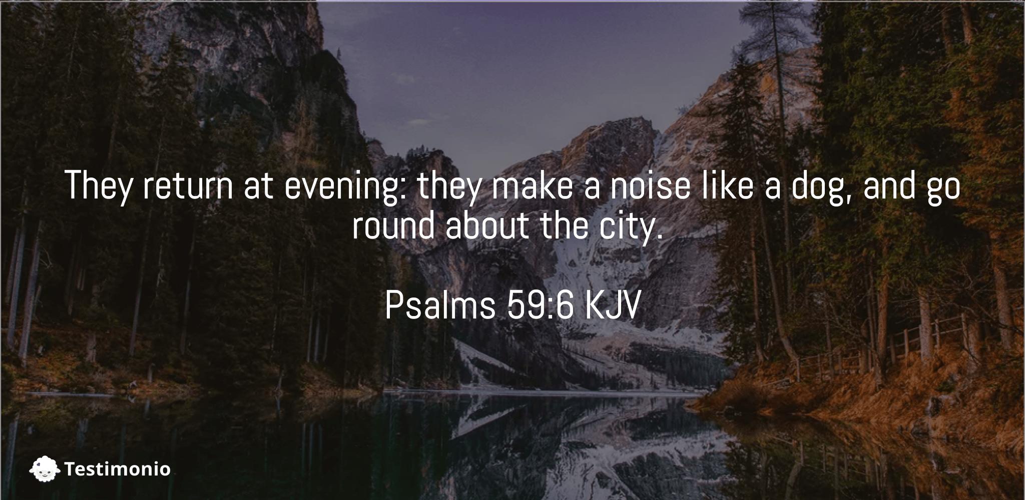 Psalms 59:6