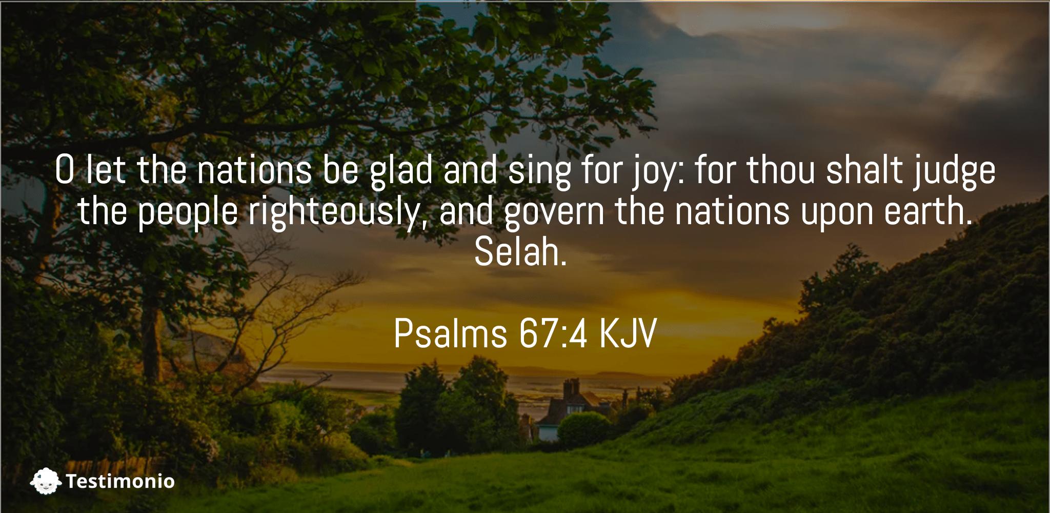 Psalms 67:4