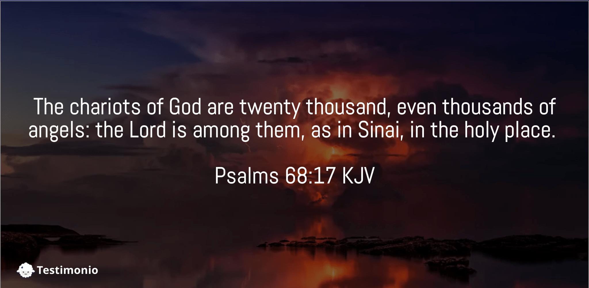 Psalms 68:17