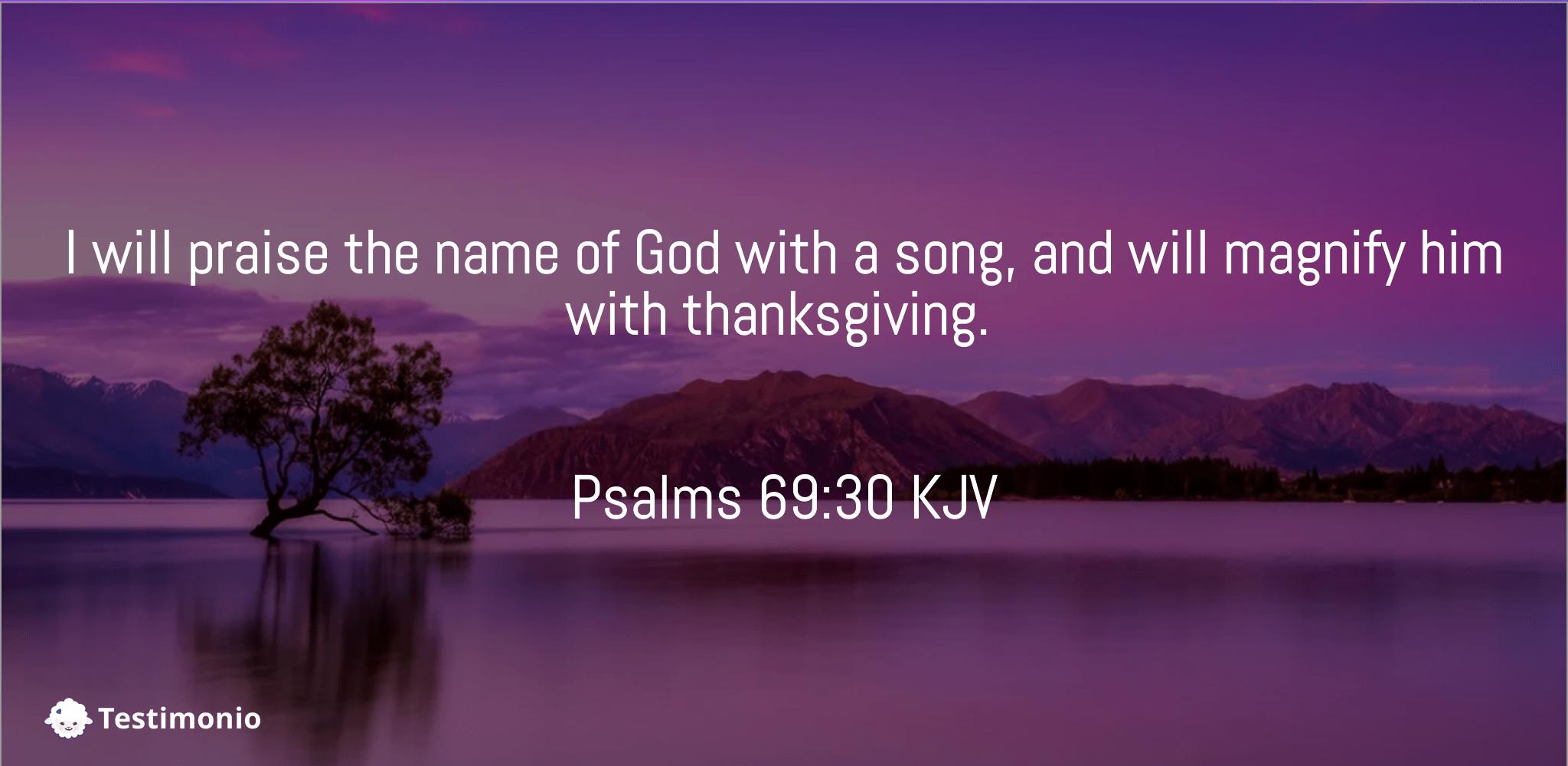 Psalms 69:30