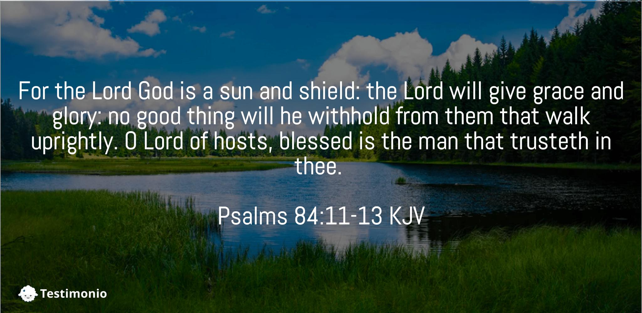 Psalms 84:11-13