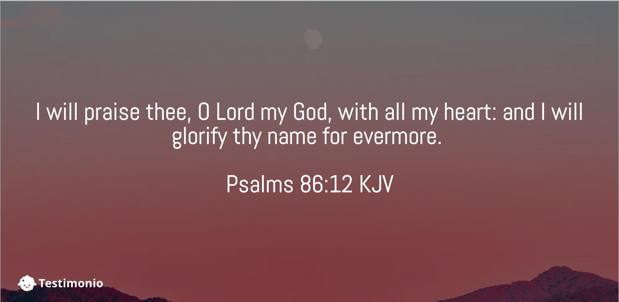 Psalms 86:12