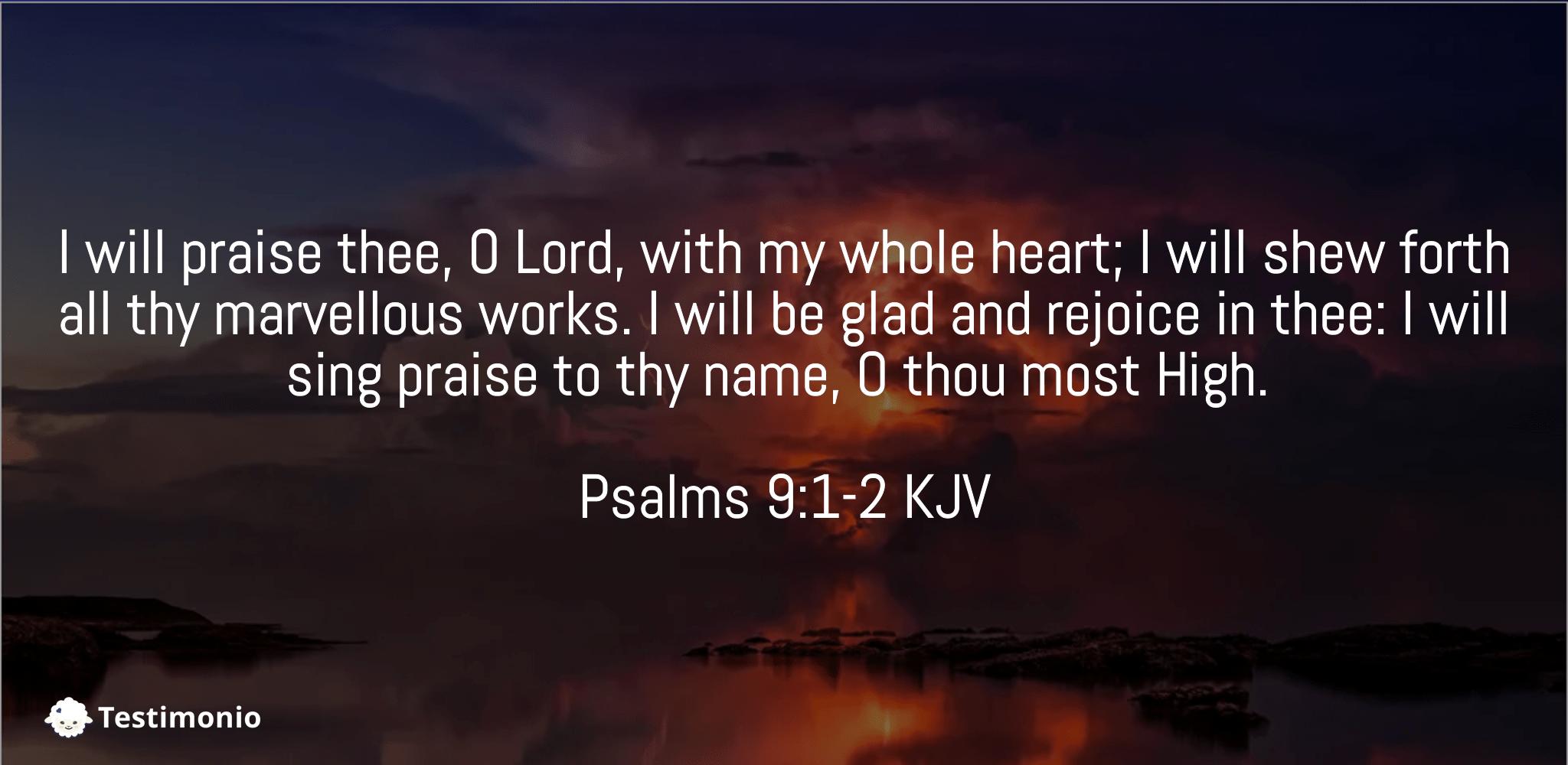Psalms 9:1-2