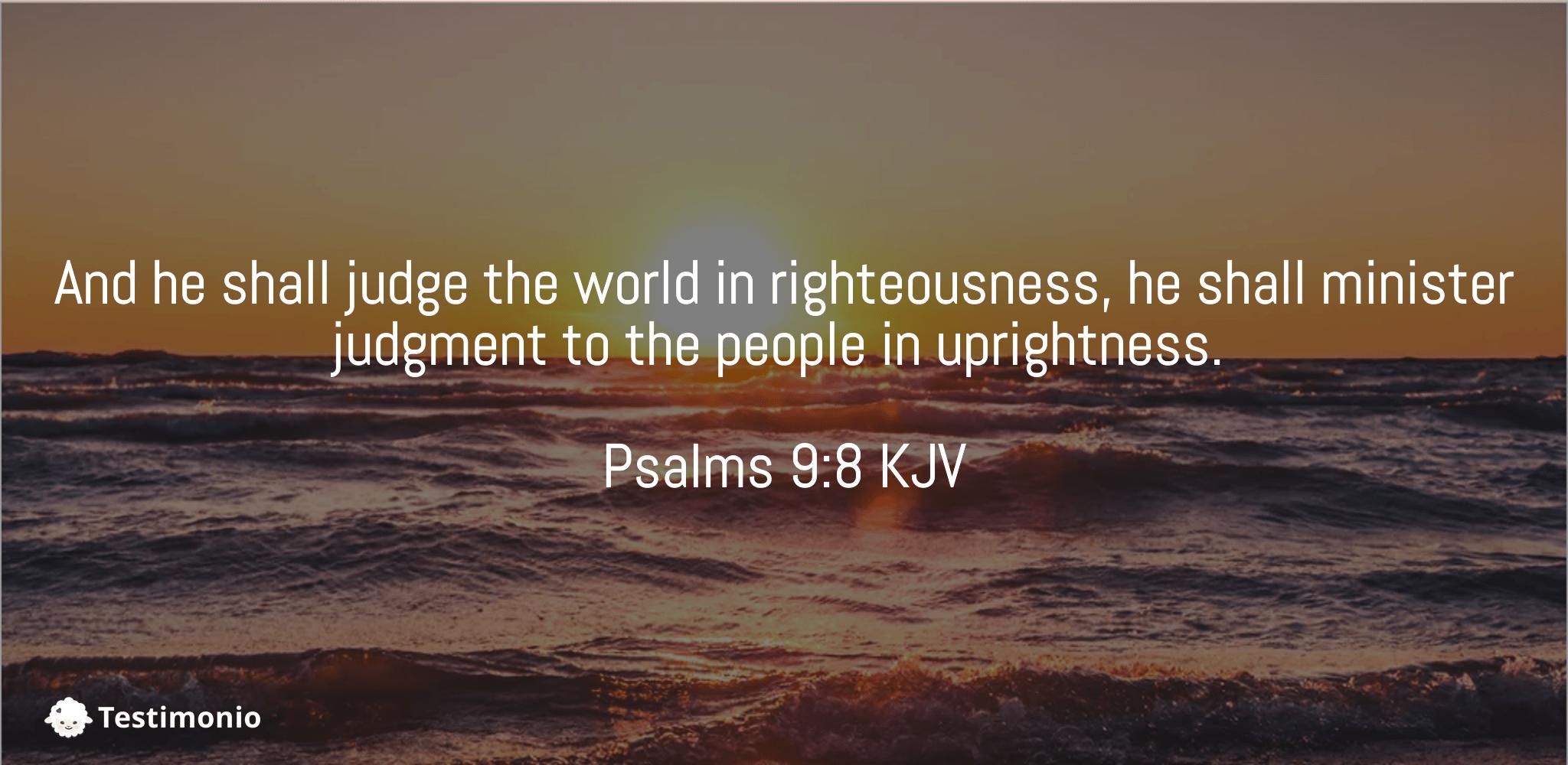 Psalms 9:8