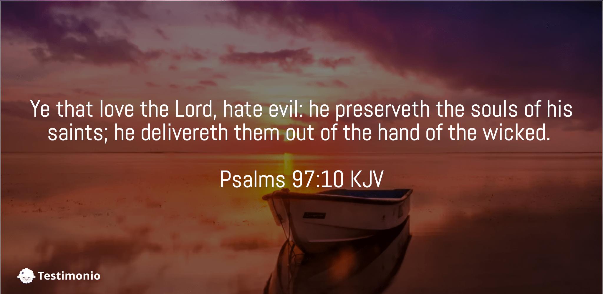 Psalms 97:10